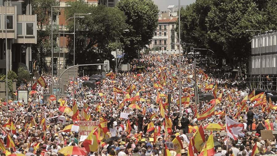 Manifestação em Madrid reuniu dezenas de milhares de pessoas