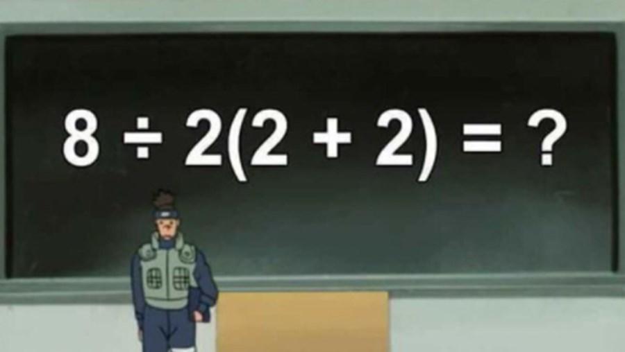 Operação matemática publicada no Twitter