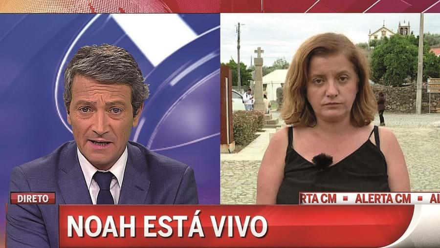 CMTV deu em primeira mão a notícia do aparecimento de Noah. Canal fez acompanhamento em direto