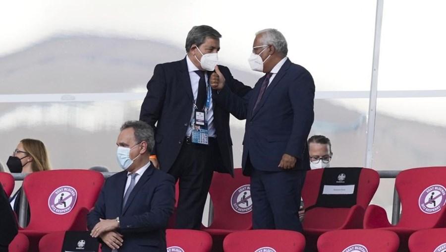 António Costa e Fernando Gomes (FPF) assistiram ao jogo em Munique