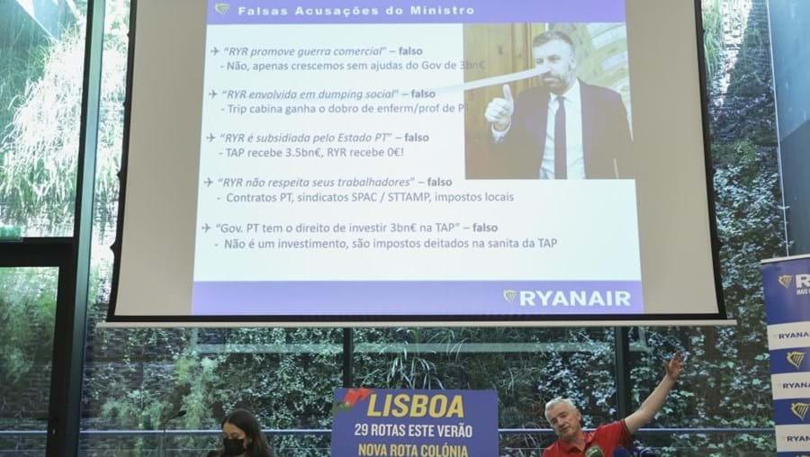 "Presidente da Ryanair mete ""nariz de Pinóquio"" em foto de Pedro Nuno Santos"