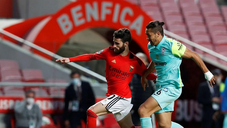 Rafa Silva (à esquerda) pode sair, mas nunca abaixo dos 25 milhões