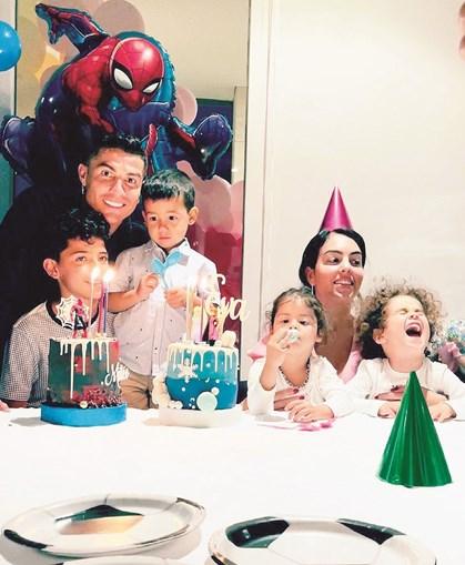 Ronaldo fez uma festa em Espanha para assinalar o aniversário dos gémeos Eva e Mateo