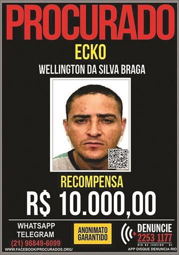 Ecko era procurado. Recompensa de 10 000 reais (1614 euros)
