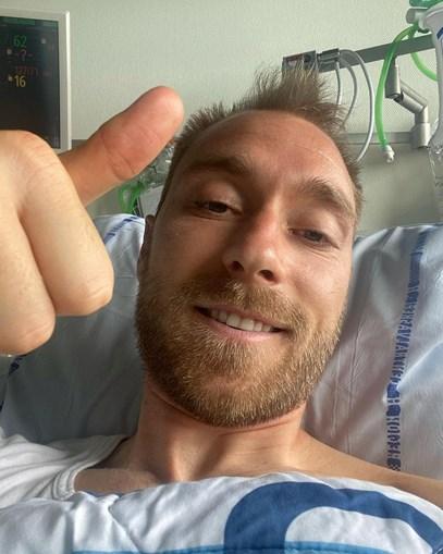 Eriksen está a recuperar bem e deixa mensagem de incentivo à equipa
