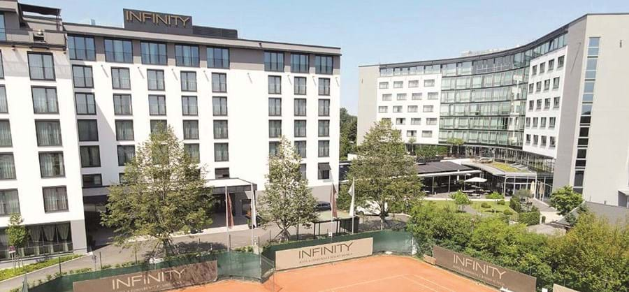 É neste hotel de 4 estrelas que a seleção portuguesa fica instalada, em Munique