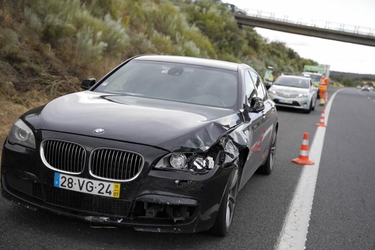 Estado em que ficou o BMW oficial do ministro