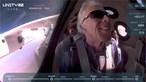 Richard Branson torna-se o primeiro bilionário a conseguir ir ao espaço e regressar à Terra
