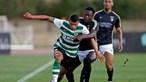 Campeão Sporting empata em jogo de preparação mas deixa boas notas