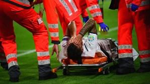Leonardo Spinazzola operado ao tendão de Aquiles da perna esquerda após lesão no Euro2020
