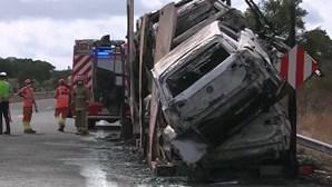 Incêndio em camião cortou A6 ao quilómetro 25 no sentidoVendas Novas - Montemor-o-Novo