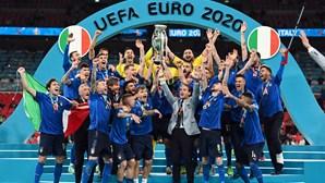 Itália é o novo campeão europeu. As imagens que marcaram o dia da 'coroação'