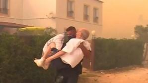 GNR salva idoso das chamas que se aproximam das habitações em Monchique