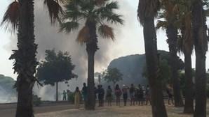 Incêndio deflagra em zona de mato junto a piscinas de Setúbal