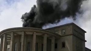 Incêndio no Palácio da Justiça no Porto