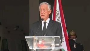 O discurso emocionado de Marcelo Rebelo de Sousa na homenagem aos bombeiros mortos em acidente