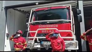 Bombeiros de Belas fazem homenagem aos colegas mortos a caminho de incêndio em Vinhais