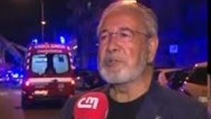Incêndio deflagra em prédio devoluto em Algés