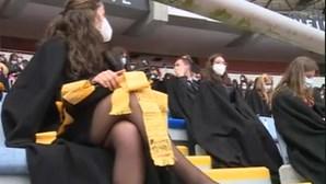 Bênção das pastas em Coimbra no Estádio Municipal e com familiares a assistir na Internet