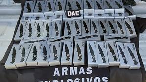 Homem apanhado com 50 facas de abertura automática em Braga