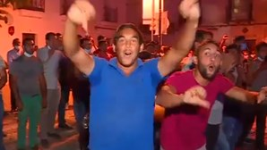 Polícia dispersa grupo de manifestantes na apresentação de Ventura em Moura