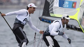 Lima e Costa com esperança no pódio na regata das medalhas na classe 49er dos Jogos Olímpicos