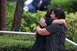 Marcus Guara, a mulher Ana e as duas filhas, Lucia e Emma, de 10 e 4 anos, respetivamente, foram homenageados por familiares e amigos