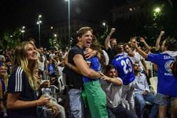 Adeptos na final do Euro 2020 em Wembley