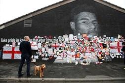 Mural de homenagem a Rashford no Reino Unido
