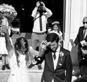 Chicão e Inês Guerra Vargas trocaram alianças no sábado, ao fim de dois anos de noivado