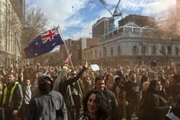 World Wide Rally for Freedom: Austrália é palco de manifestações contra restrições da Covid-19