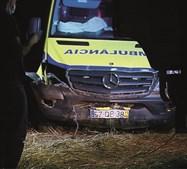 Ambulância ficou inoperacional após despiste