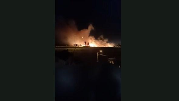 Incêndio consome zona de mato no Cacém, Sintra
