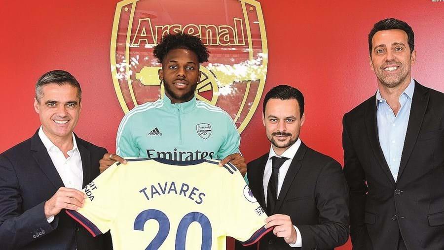 Nuno Tavares foi apresentado como reforço do Arsenal,  da Liga inglesa. Nas costas da sua camisola vai ter o número 20