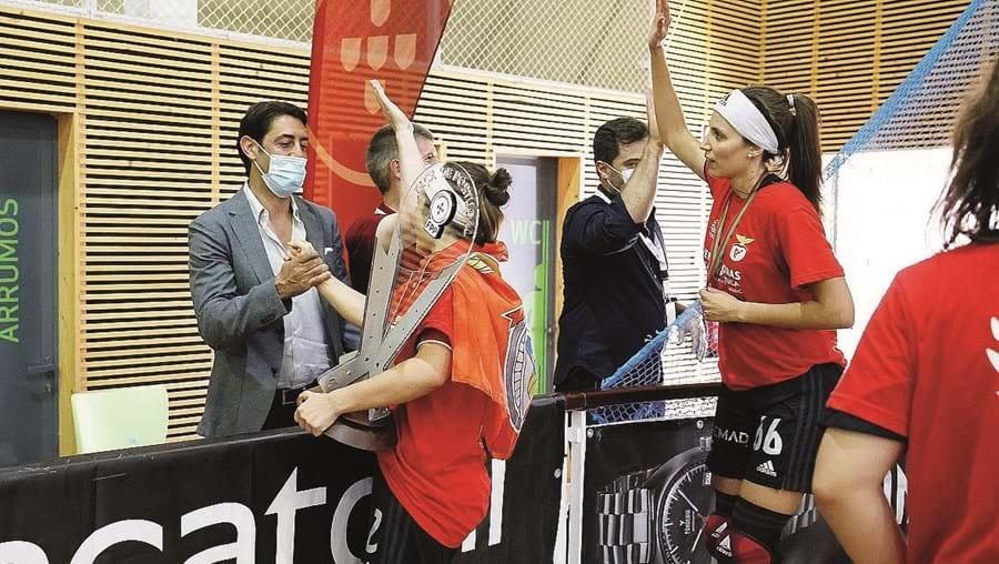 Rui Costa esteve na Mealhada e saudou as vencedoras da Taça de Portugal