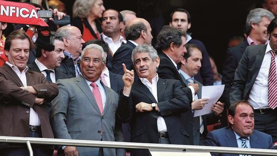 Luís Filipe Vieira com António Costa