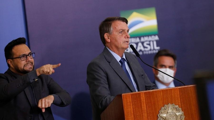 Jair Bolsonaro na apresentação do senador Ciro Nogueira (à direita) como novo chefe da Casa Civil