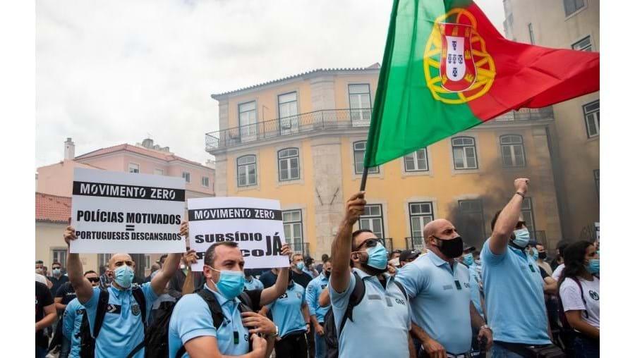 Manifestação das forças de segurança convocada pelo Movimento Zero, em Lisboa, 21 de junho de 2021