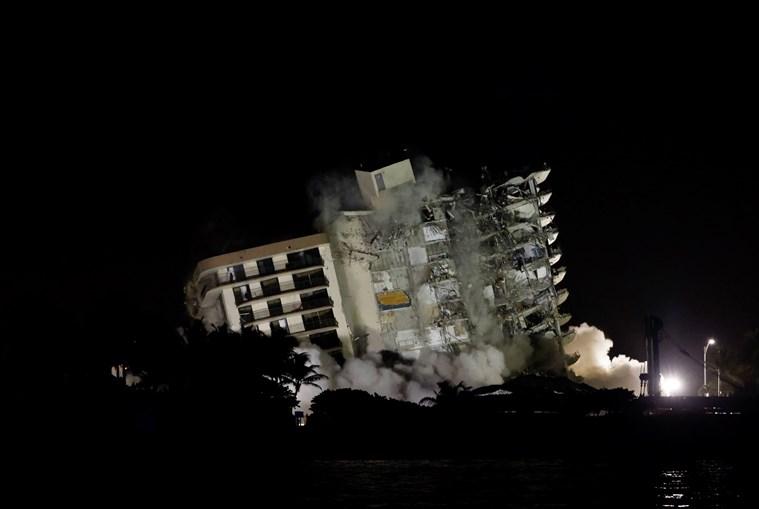 Demolido prédio que colapsou em Miami