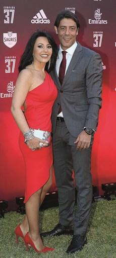 Sandra Costa e o atual presidente encarnado estão juntos há mais  de uma década
