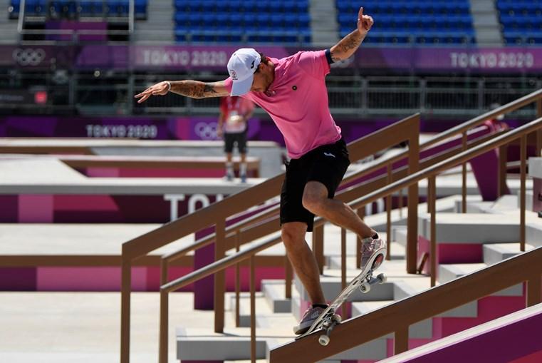 'Skateboarder' português Gustavo Ribeiro na final da prova de rua de Tóquio2020