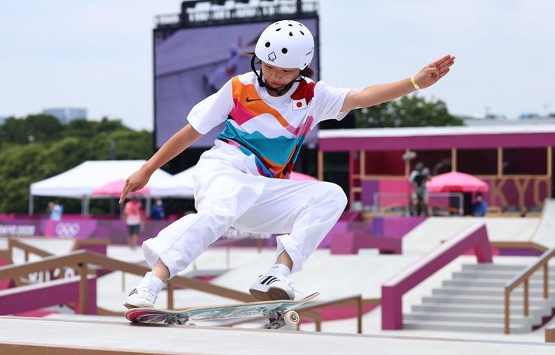 Momiji Nishiya surpreendeu pela sua agilidade