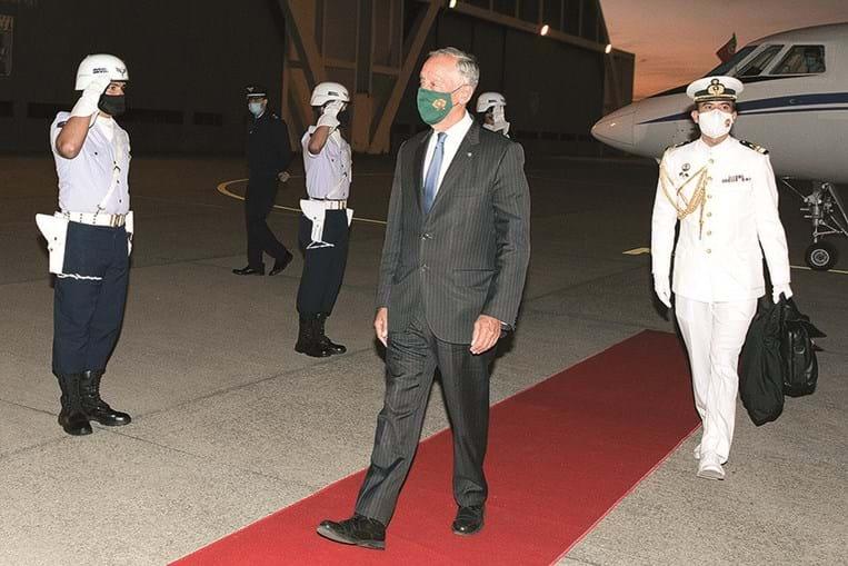 Chefe do Estado na chegada ao Brasil