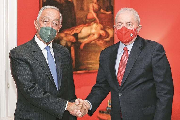Presidente da República esteve com o ex-presidente do Brasil Lula da Silva