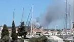 Cerca de 100 bombeiros combatem incêndio em Loulé