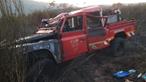 Três operacionais feridos em despiste de carro dos bombeiros no combate a incêndio em Baião