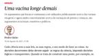 Público apaga artigo de opinião de médico contra vacinação Covid-19 de crianças e alega 'erro de controlo editorial'