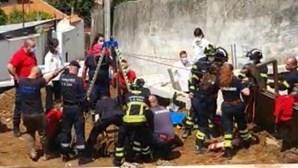 Homem resgatado de um poço em Vila Nova de Gaia