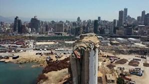 Beirute vista de cima um ano após a explosão que devastou a capital libanesa