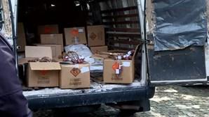 Homem entrega explosivos e material pirotécnico à PSP de Viana